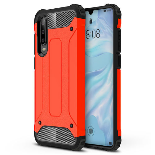 Military Defender Heavy Duty Shockproof Case for Huawei P30 - Red